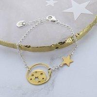 Moon Star Disc Bracelet