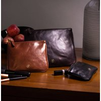 Personalised Leather Pouch Trio Gift Set Siena Group