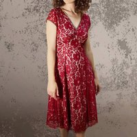 Ruby Lace Vintage Style Party Dress