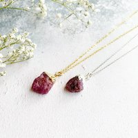 Personalised Ruby July Birthstone Necklace