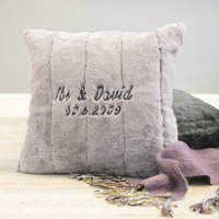 Personalised Super Soft Embroidered Cushion