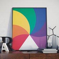 Colourful Children's Spiral Poster