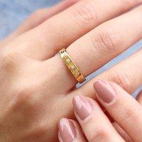 Gold Or Silver Semi Precious Crystal Constellation Ring, Silver