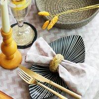 Zig Zag Printed Tablecloth For Boho Table