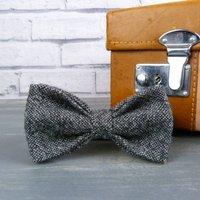 Yorkshire Birdseye Tweed Bow Tie, Brown/Black/Grey