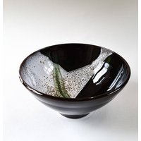 Hand Crafted Brown And White Bowl
