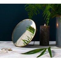 Gold Framed Round Vanity Mirror