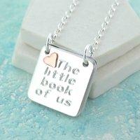 Rose Gold Heart Engraved Photo Book Locket, Gold