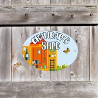 Personalised Metal Sign For Tool Shed Or Workshop