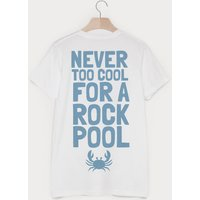 Never Too Cool For A Rock Pool Men's Slogan T Shirt