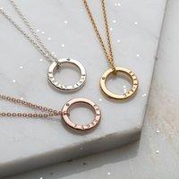 Personalised Emerald Diamond Mini Message Necklace