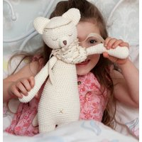Personalised Hand Knitted Fox Teddy And Story Book