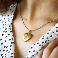 Vintage 14k Gold Filled Heart Locket, Gold