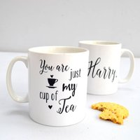 Personalised 'You Are Just My Cup Of Tea' Mug