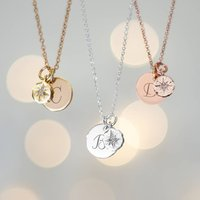 Aurora Personalised Initial And North Star Necklace