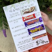 Personalised Engagement Chocolate Board
