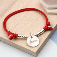 Boys Personalised Sterling Silver Friendship Bracelet, Silver