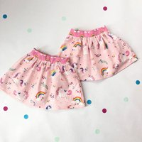 Handmade Unicorn Skirt Twin Set