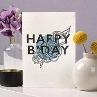 'Happy B'day' Letterpress Card