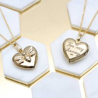 Personalised 18ct Gold Bee Locket, Gold