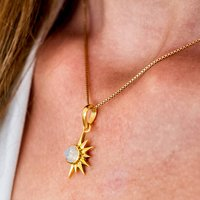 Total Eclipse Moonstone Necklace