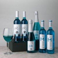 Spanish Blue Wine Gift Box