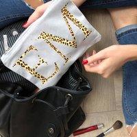 Personalised Leopard Print Cosmetic Bag