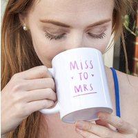 Miss To Mrs Engagement Mug