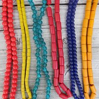 Fair Trade Necklaces Plain Recycled Glass Beads