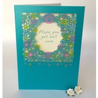 Get Well Soon Delicate Cut Card