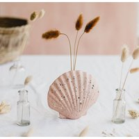 Scallop Shell Grass Or Stem Vase