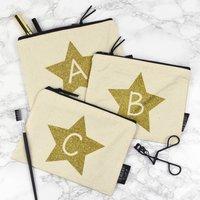 Alphabet Letter Glitter Make Up Bag