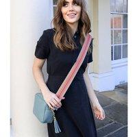 Personalised Leather Light Blue Handbag