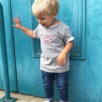 Kids Shrug Grey Embroidered T Shirt