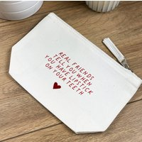 Real Friends Quote Make Up Bag