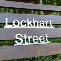 Stainless Steel Underlined House Name