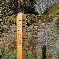 Personalised Oak Sign Post