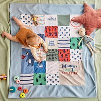 Personalised Baby Clothes Keepsake Quilt