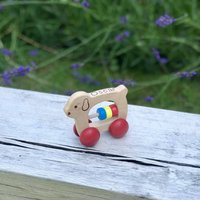 My First Personalised Wooden Push Along Toy