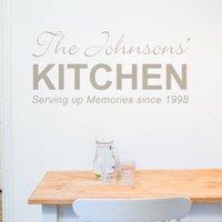 Personalised Kitchen Wall Sticker, White/Black/Grey