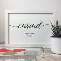 Personalised Cariad Framed Print