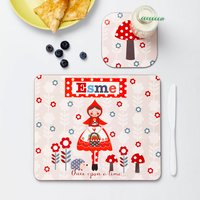 Girls Personalised Little Red Riding Hood Placemat