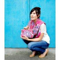 Ruby Glade Silk Clutch Bag