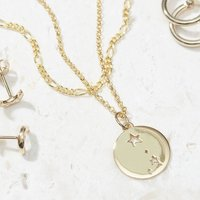 Aries Star Sign Necklace In Silver Or Gold Vermeil, Silver