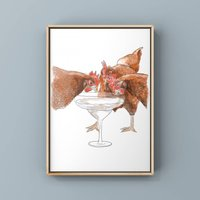 Hen Party Art Print