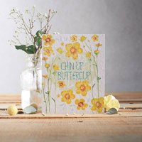 Chin Up Buttercup Plantable Wildflower Seed Card