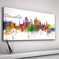 Middlesbrough City Skyline, White