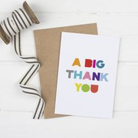 A Big Thank You Card Pack