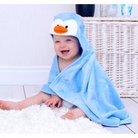 Personalised Perky Penguin Baby Towel