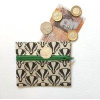 Badger Coin Purse. Handmade Cotton Pouch